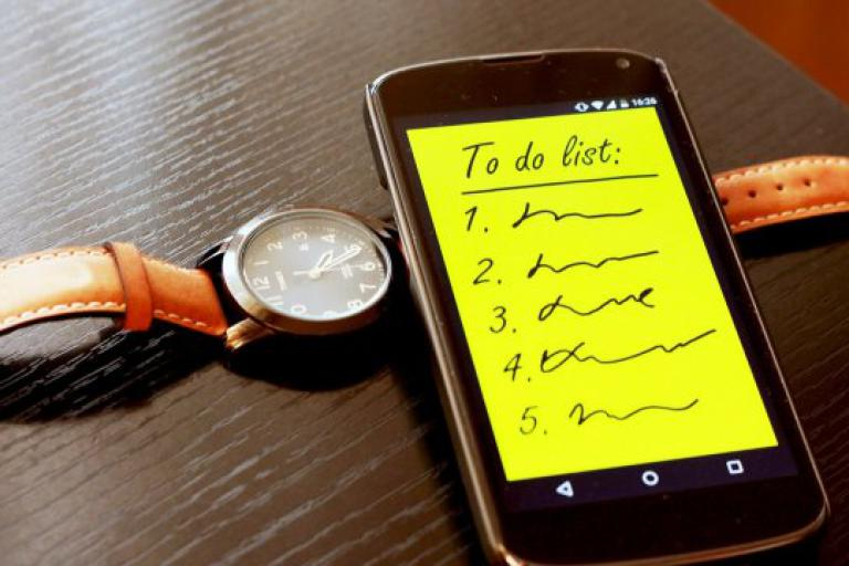 To do list on phone and a watch