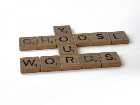 scrabble tiles spelling Choose your words